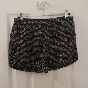 Lounge Shorts Soft Polka Dot Black White Stretchy